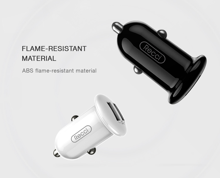 Recci Mushroom series cheap high quality cell phone dual usb car charger adapter