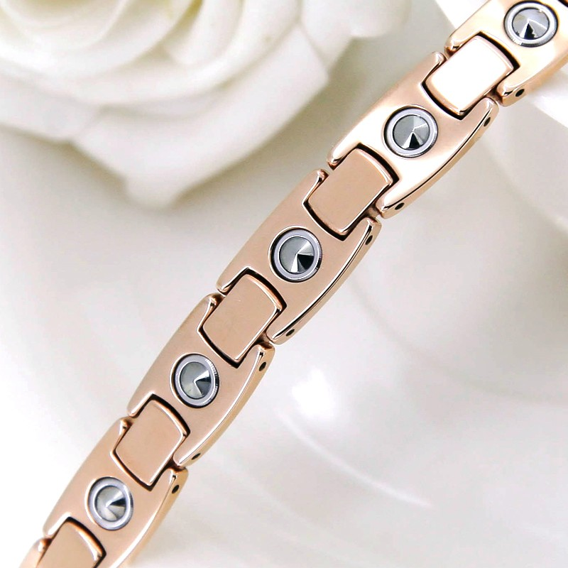 Rose Gold Tungsten Pure Germanium Balance Bracelet for Men