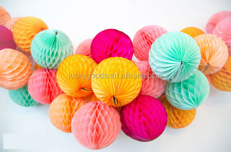 Honeycomb Decorations Paper Balls Simple Craft Customized Party Or Festival Honeycomb Paper Decorations Decorating Design