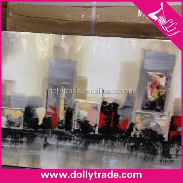 50*150cm Wholesale Modern Handpainted Cityscape Wall Decor Abstract Landscape Oil Painting