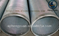 Continuous slot wedge wire cylindrical screen