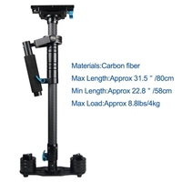 YELANGU S80T Professional 58-80cm Maximum Burden 4kg Aluminium Alloy Handheld Stabilizer for DSLR & DV Digital Video & other Cam
