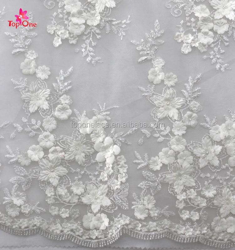 Diseño De Moda Tela Nupcial Blanca Del Cordón/bordado De Tul/cordón ...