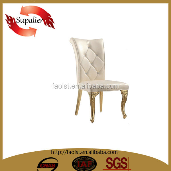 promotion price hotel chairs, hotel hall gold stainless steel chairs wholesale
