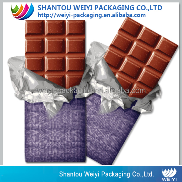 aluminum foil food packaging chocolate wrapping paper
