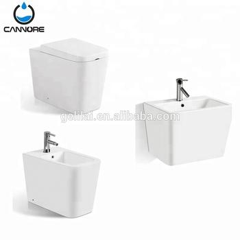 New Style Bathroom Set Ceramic Wc Water Closet Art Basin And Bidet