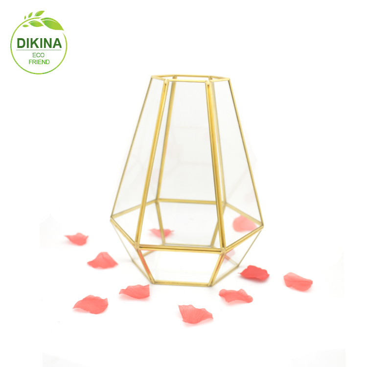 ::@ 2019 new wedding decor Chinese factory price clear glass flower vase/clear plant container hanging geometric glass terrarium