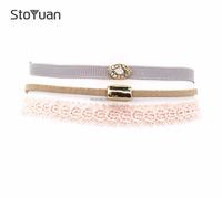 Stoyuan Wholesale New Fashion Evil Eyes Rhinestone Pendant Bohemian Choker Necklace STN061