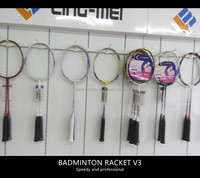 high quality badminton racket with carbon fiber material