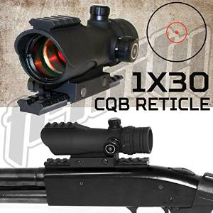 Mossberg 500 590 835 Reticle Red Reflex Sight Scope & Rail Mount Package.
