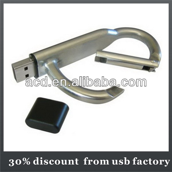 very popular 128GB climbing button carabiner shape metal usb 3.0 flash drive