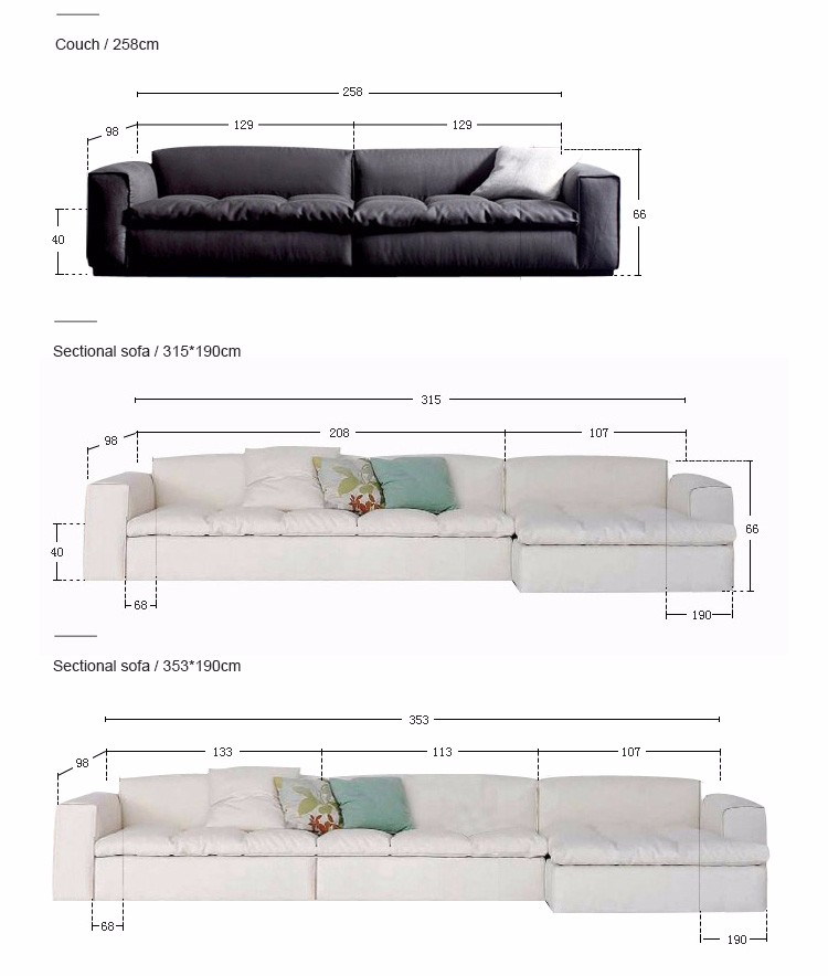 home furniture modern living room sectional feather filling sofa and chesterfield sofa