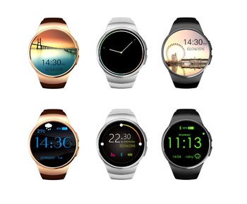 Kw18 Smartwatch Bluetooth Heart Rate Monitor Wrist Pedometer Watch Round Screen Smart Watch KW18