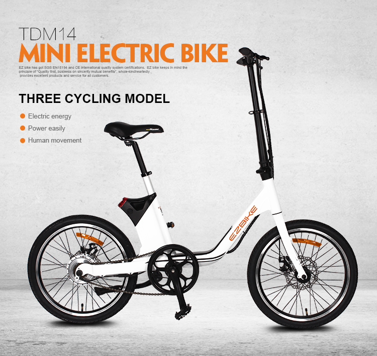Top Sale Eco 36V 250W Diy Small Mini City Outdoor E Bike Electric Bicycle