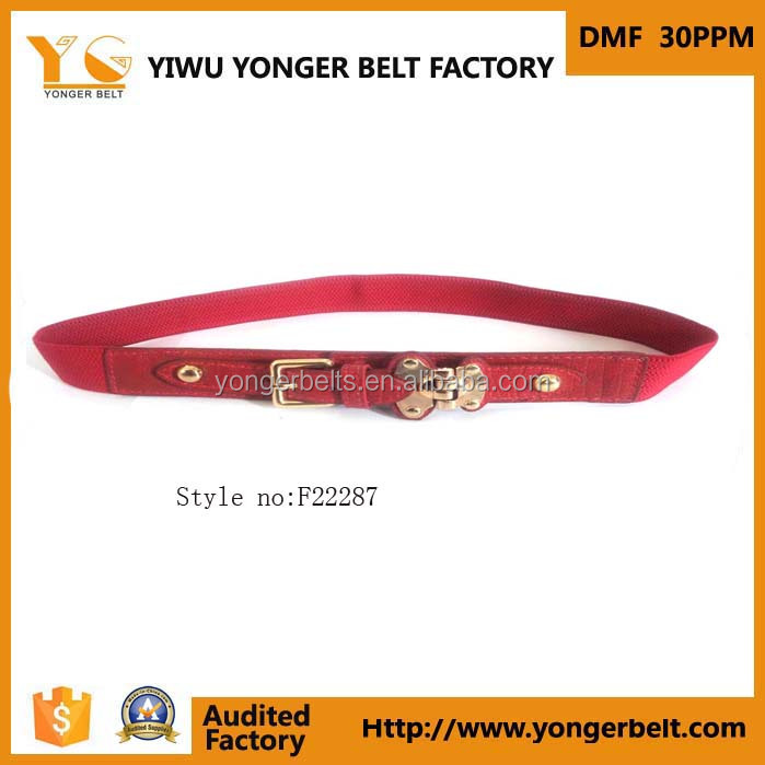 Factory Wholesale Knitted Nylon Woven Buckle Belt Fabric Belts For Women