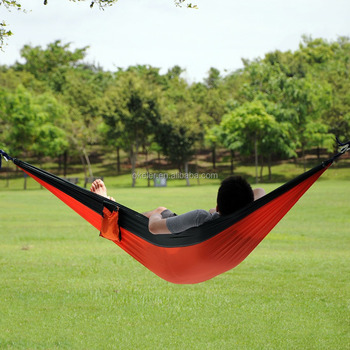 Customize Double Person 210T Nylon Parachute Outdoor Anti Insect Repellent Portable Hammock Bed
