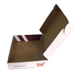 Manufacturer Full Color Printed cardboard mailer box E Flute 3 Layers Cardboard Tuck Top Paper shipping box mailer