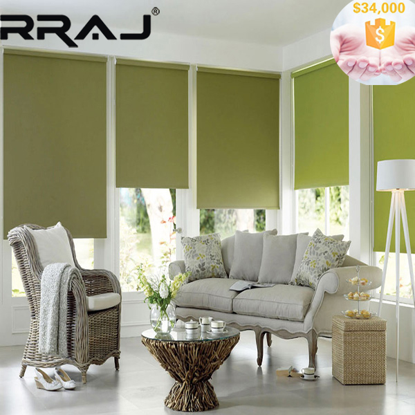 RRAJ Battery Operated Roller Blinds Rechargeable Lithuim Battery