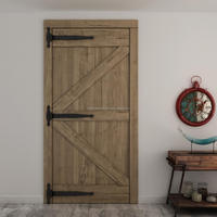 finished wooden pine slab barn door in hardware industry markets