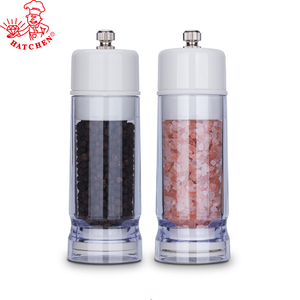 8af85dca66b4 factory wholesale plastic 2 pcs salt pepper mill salt and pepper grinder set