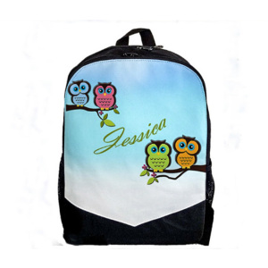 Owls personalised school bags toddler animal backpacks