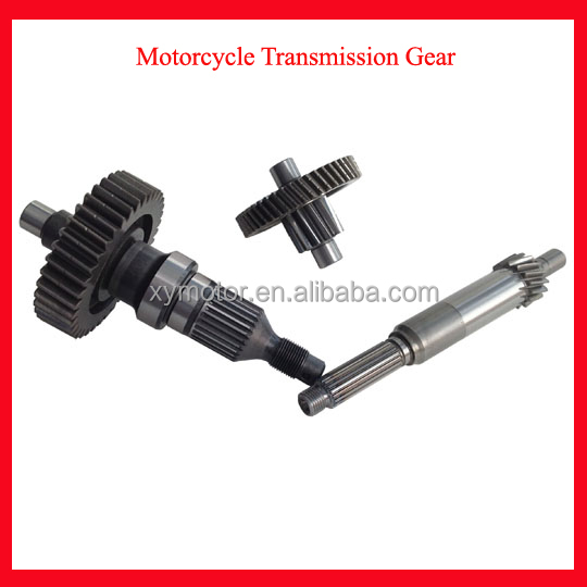 original spare parts motorcycle transmission countershaft for