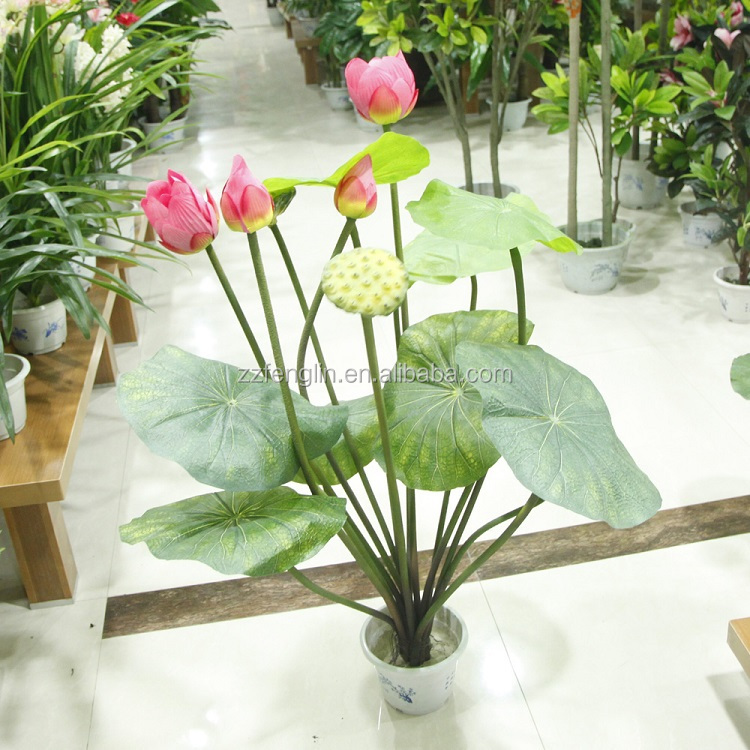 434 Inch All Kinds Of Factory Artificial Silk Lotus Flower Fake