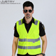 Work vest custom yellow green v shape security guard cycling safety reflective ves for running