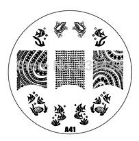 2015 new A Series A41 Nail Art Polish DIY Stamping Plates Image Templates Nail Stamp Stencil