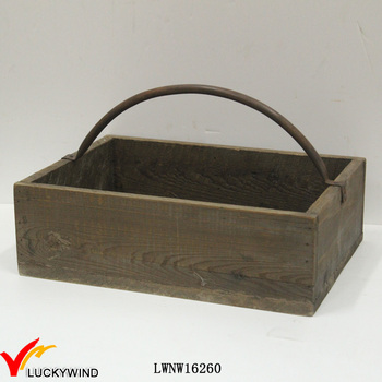 reclaimed small wooden crate with iron handle - Small Wooden Crates