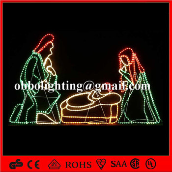 Nativity scene jesus in manger christmas light display outdoor buy nativity scene jesus in manger christmas light display outdoor aloadofball Gallery