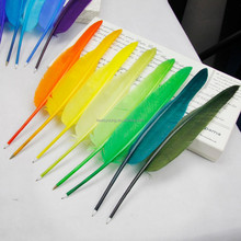 Feather Shape Ballpoint quill Pens for promotional gift