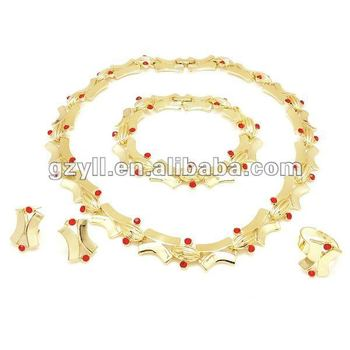 Italian gold jewelry sets with rhinestone View Italian gold jewelry