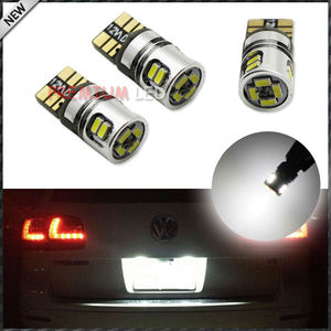 Xenon White 10-SMD-4014 10W 168 194 2825 W5W LED Replacement Bulbs For Parking/Position Lights or License Plate Lights