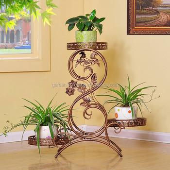 Metal plant holder wrought iron plant stands flower holder - Estantes para plantas ...