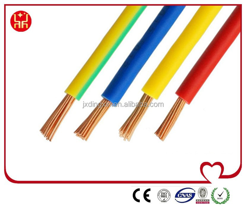 2AWG CU copper wire PVC insulated electrical wire