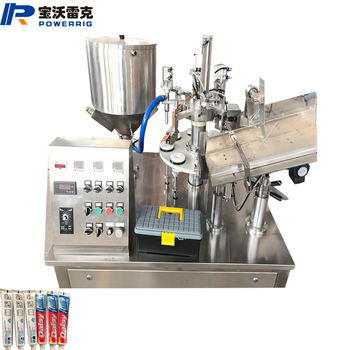 Small automatic manual toothpaste tube filling sealing machine for toothpaste