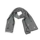 Argyle Pattern Thin Gauge Delicate Acrylic Knitted Scarf For Men