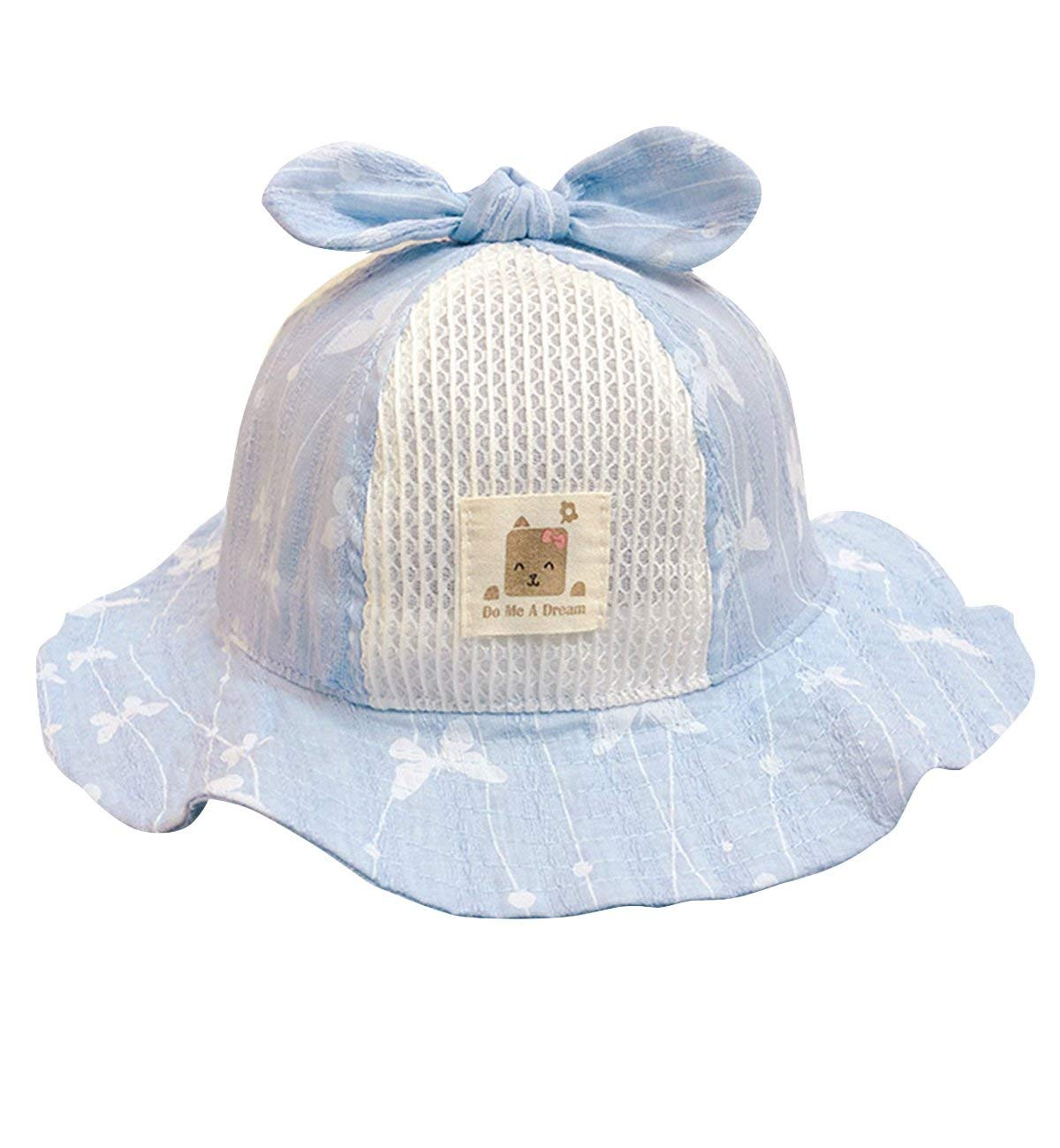 Get Quotations · Sumolux Toddlers Baby Sun Hat Girls Boys Cute Floral  Bowknot Mesh Large Brimmed Cotton Sun Protection ccd36e50c0f2