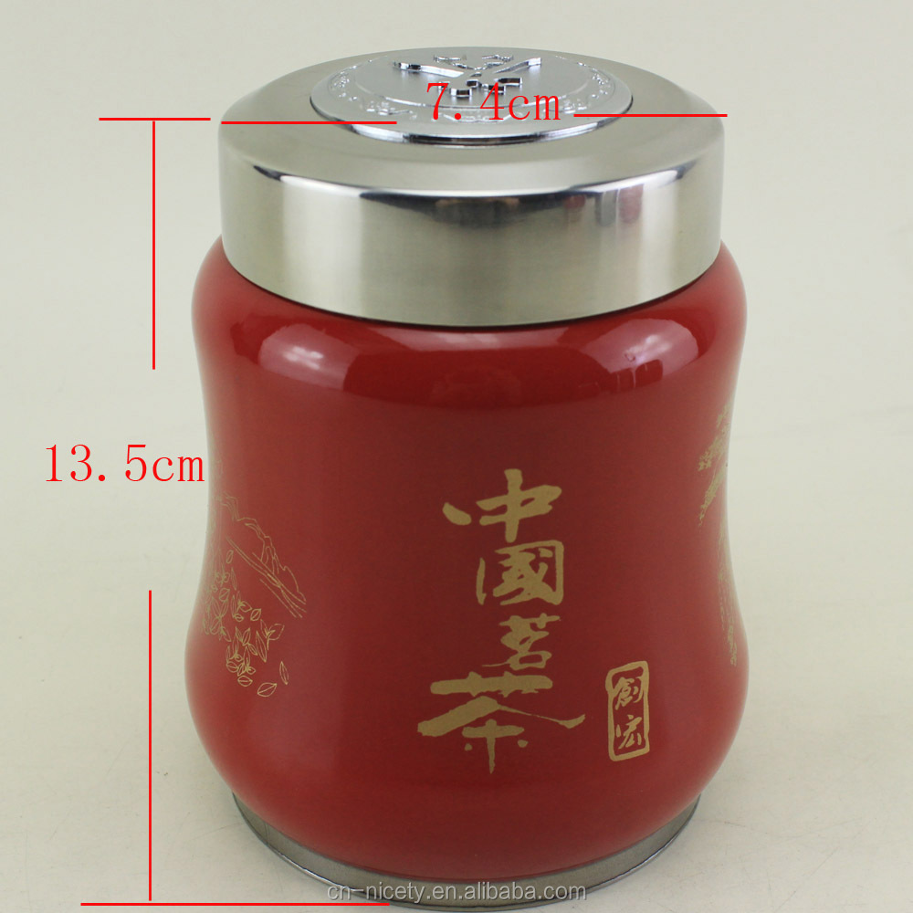 Promotion Tea Caddy/stainless Steel Chinese Tea Container/metal ...