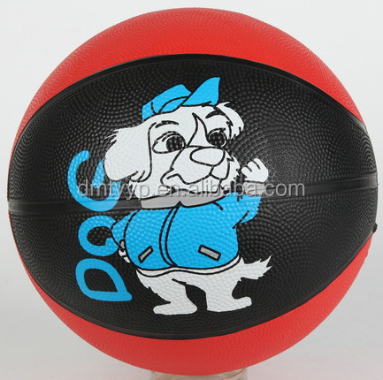 Xidsen,Qianxi Rubber Colorful Basketball size 7,Cartoon Dog Photograph printing