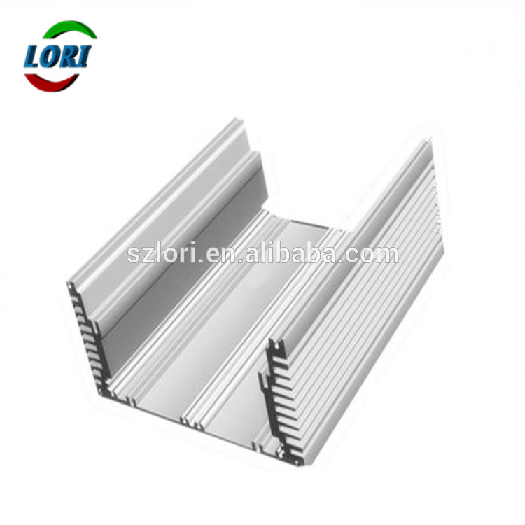 custom design aluminium heatsink with color silver square shape