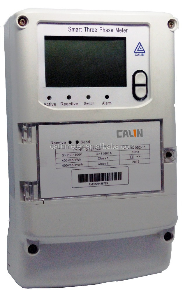 Original Design Three Phase DLMS Smart remote reading electricity meter with GPRS/RF/PLC Communication