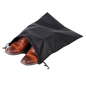Dustproof nylon waterproof drawstring bag for shoe