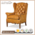 Traditional Button Tufted Leather Armchairs Living Room comfortable Luxury Wing Chairs for lounge