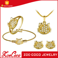Promotional Factory Prices Best Quality Dubai 18K Gold Jewelry Set Wedding Jewellery Designs