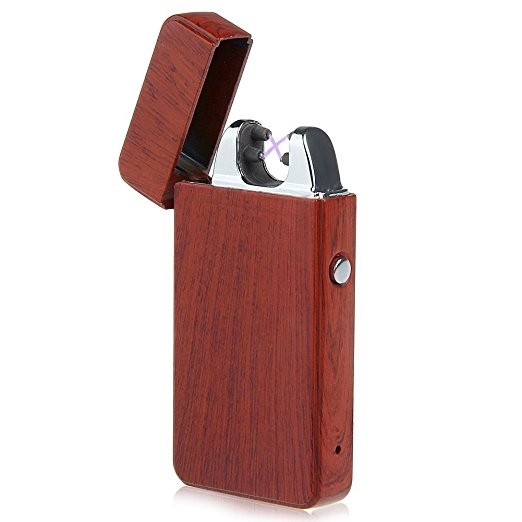 PREMIUM WOOD USB Rechargeable Electronic lighter Windproof, flameless, no <strong>gas</strong> and fluid required