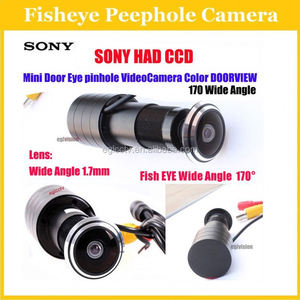 New Cctv CCD 480TVL video peephole door camera With 1.7mm Fish eye Lens