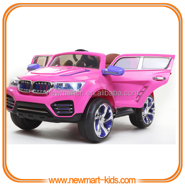 Deluxe Purple Battery Operated Kids Electric Car R C Toy