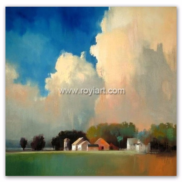 2016 Handmade Simple Design Landscape Abstract Oil Painting For Decorative